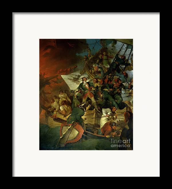Russian Capture Of The Azov Sea From The Crimean Tatar Vassals Of Turkey Framed Print featuring the painting Capture Of Azov by Sir Robert Kerr Porter