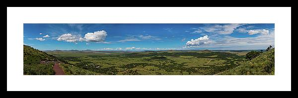 Capulin Volcano National Monument Framed Print featuring the photograph Capulin Panorama by TM Schultze
