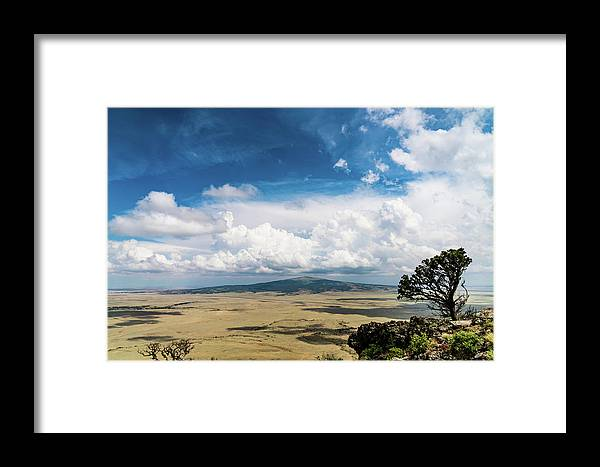 New Mexico Framed Print featuring the photograph Capulin Volcano View New Mexico by Lawrence S Richardson Jr