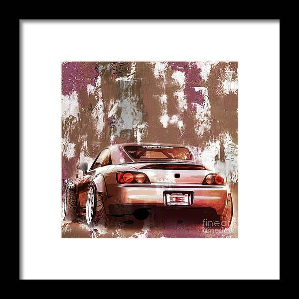 Auto Framed Print featuring the painting Car 001 by Gull G