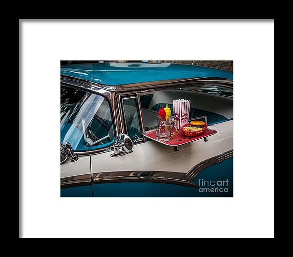 Car Framed Print featuring the photograph Car Hop by Perry Webster