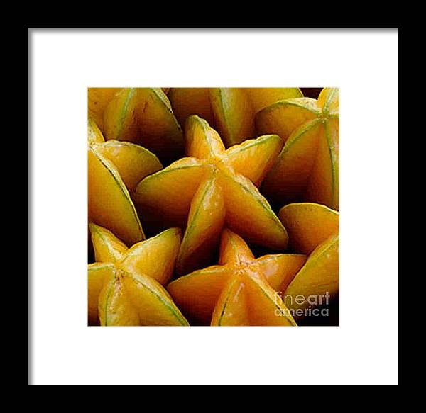 Caranbola Framed Print featuring the photograph Carambola by Dragica Micki Fortuna
