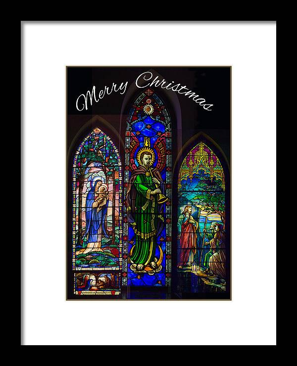 Robert Kernodle Greeting Cards Framed Print featuring the photograph Card Merry Christmas by Robert G Kernodle