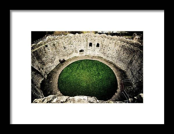 Cardiff Castle Framed Print featuring the photograph Cardiff Inner Keep by Scott Sawyer