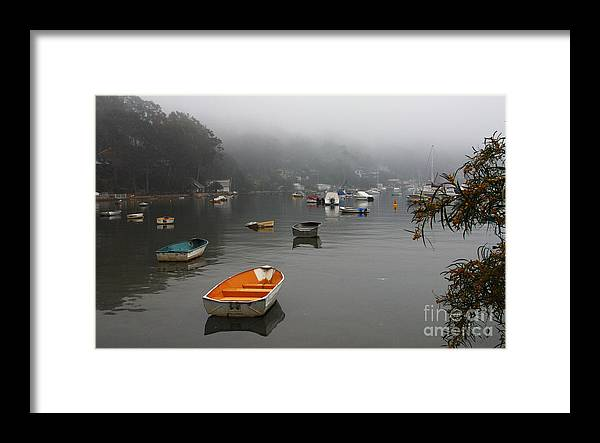 Mist Framed Print featuring the photograph Careel Bay mist by Sheila Smart Fine Art Photography