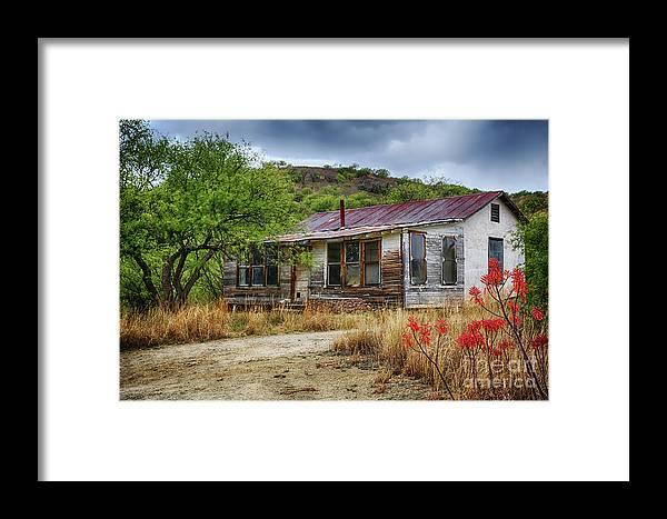 Cargill Residence At Ruby Arizona Framed Print featuring the photograph Cargill Residence At Ruby Arizona by Priscilla Burgers