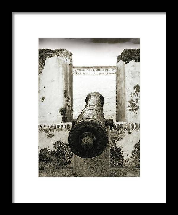 Cannon Framed Print featuring the photograph Caribbean Cannon by Steven Sparks
