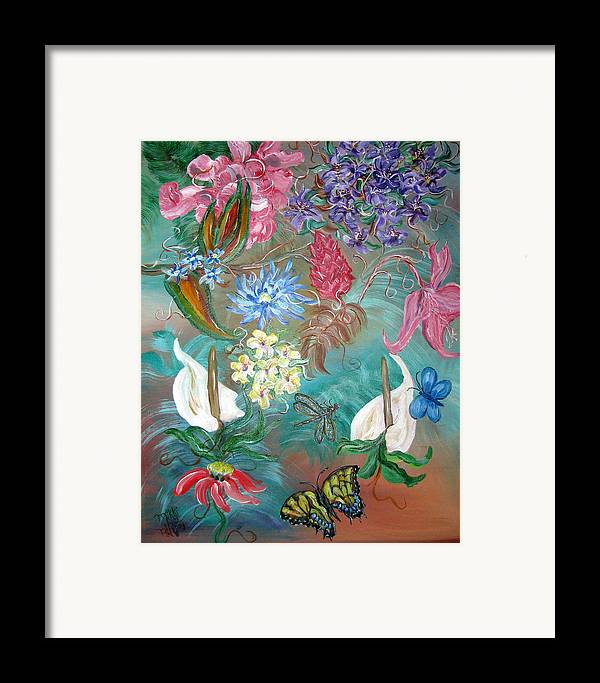 Fantasy Framed Print featuring the painting Caribbean Delight by Mikki Alhart