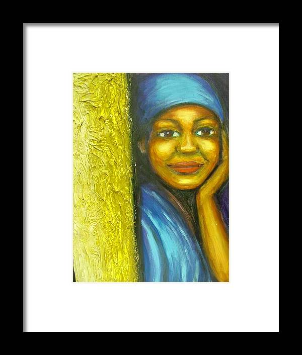 Framed Print featuring the painting Caribbean Mystery Lady by Jan Gilmore