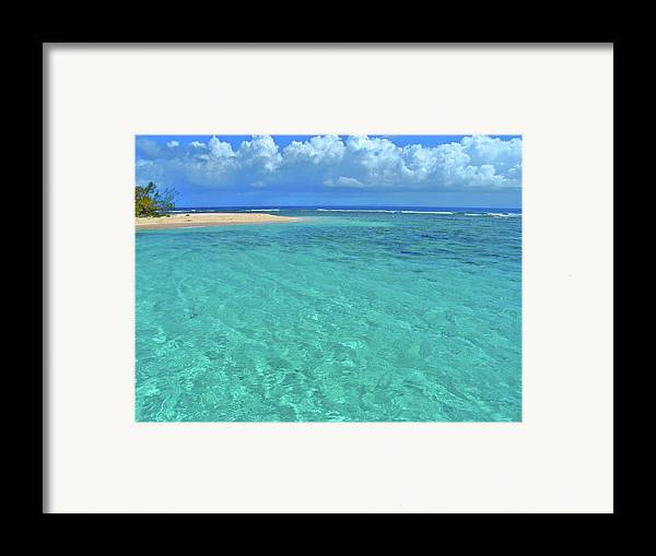 Water Framed Print featuring the photograph Caribbean Water by Scott Mahon
