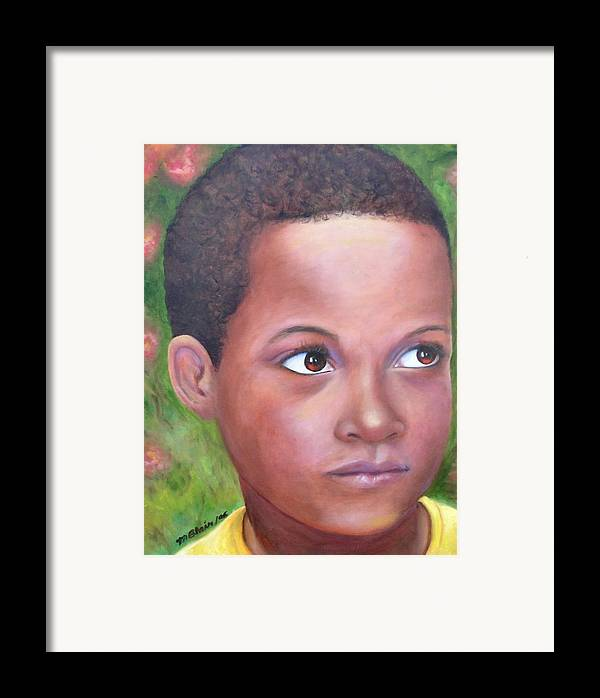 Children Framed Print featuring the painting Caribe Child by Merle Blair