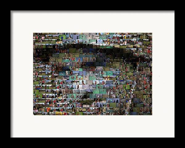 Bill Murry Framed Print featuring the mixed media Carl Caddyshack Mosaic by Paul Van Scott