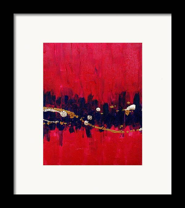 Abstract Framed Print featuring the painting Carla Number Three by Jess Thorsen