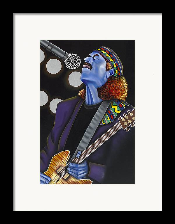 Portrait Framed Print featuring the painting Carlos by Nannette Harris
