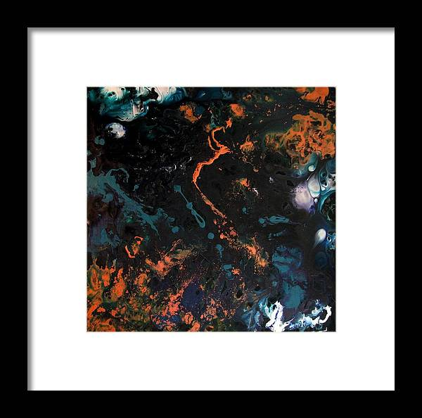 Copper Framed Print featuring the painting Carlotta by Jess Thorsen