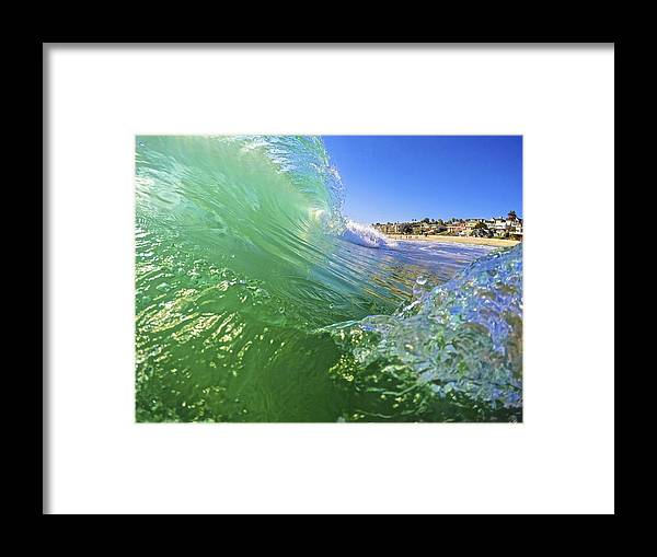 Wave Framed Print featuring the photograph Carlsbad Wave 3 by Michael Cappelli