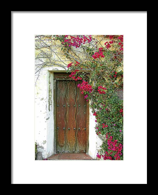 Framed Print featuring the photograph Carmel Mission by Tom Kidd