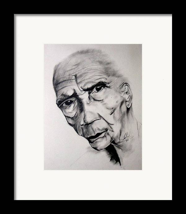 Portrait Framed Print featuring the drawing Carmen by LeeAnn Alexander