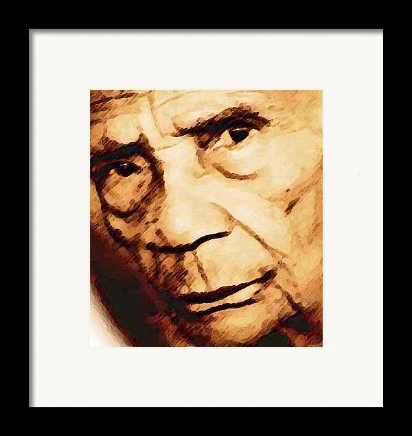 Portrait Framed Print featuring the digital art Carmen S. by LeeAnn Alexander
