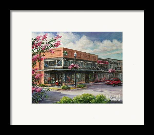 City Framed Print featuring the painting Carmen's Corner by Virginia Potter