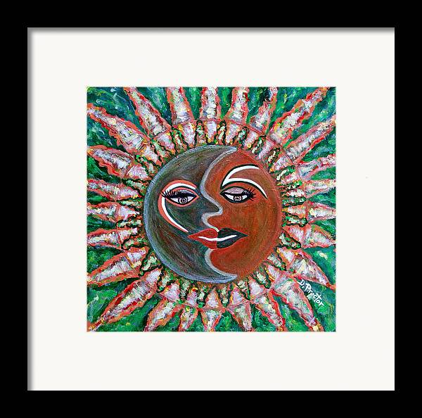 Carnival Framed Print featuring the painting Carnavale Sunset by Donna Proctor