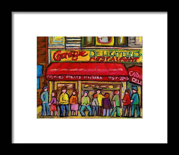Carnegie's Deli Framed Print featuring the painting Carnegie's Deli by Carole Spandau