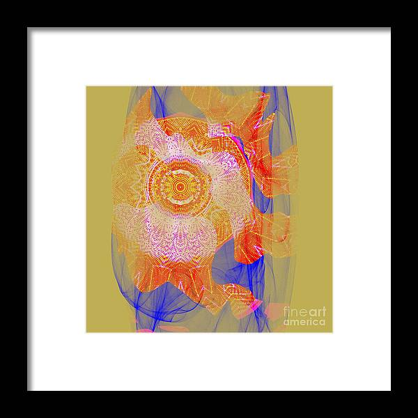 Festival Framed Print featuring the digital art Carnival Abstract 1 by Mary Machare