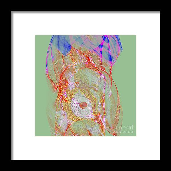Festival Framed Print featuring the digital art Carnival Abstract 6 by Mary Machare