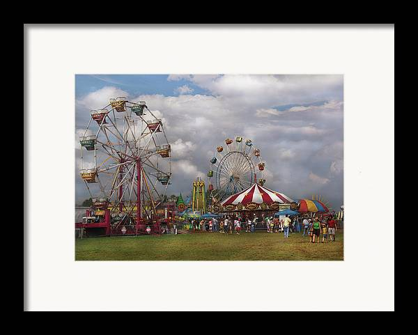 Savad Framed Print featuring the photograph Carnival - Traveling Carnival by Mike Savad