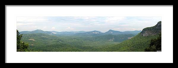 North Carolina Framed Print featuring the photograph Carolina Mountain View by Al Blackford