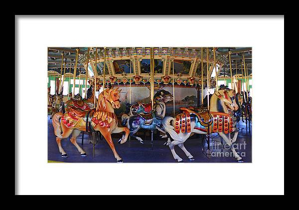 Glen Echo Park Framed Print featuring the photograph Carousel by David Nicholson