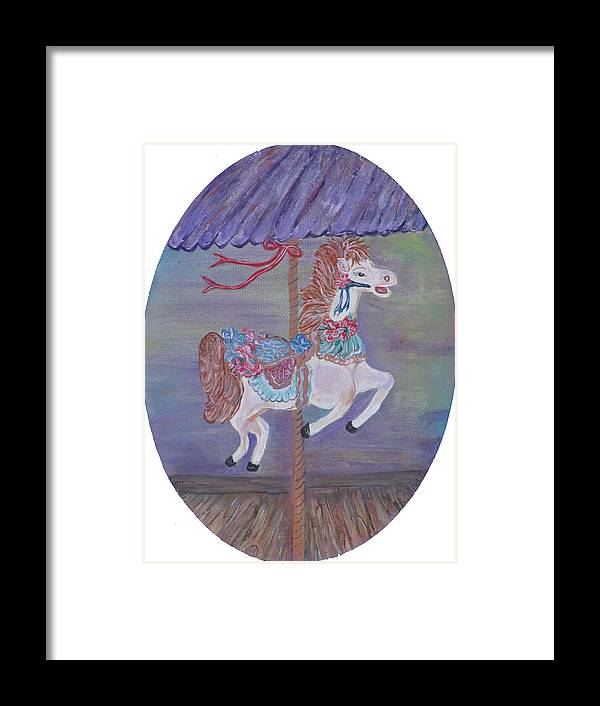 Carousel Framed Print featuring the painting Carousel by Mikki Alhart