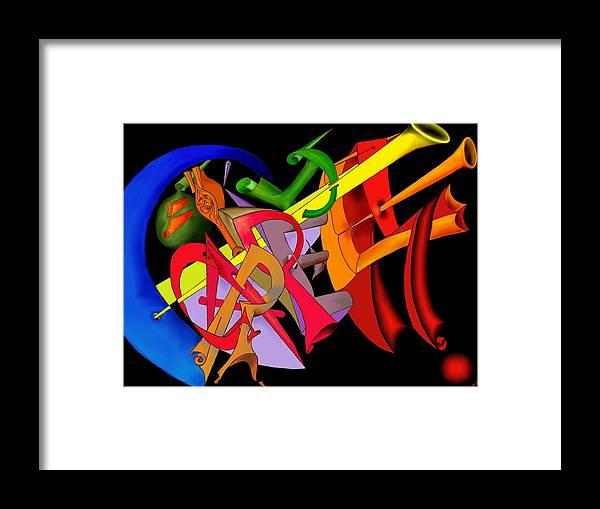'carpe Diem' Framed Print featuring the digital art Carpe Diem II by Helmut Rottler