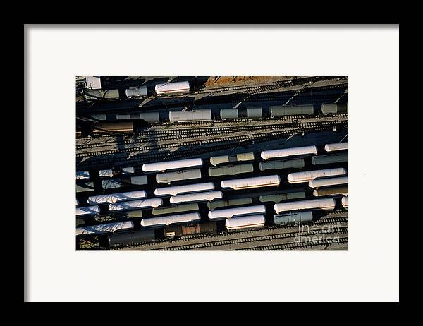 Cargo Framed Print featuring the photograph Carriages Of Freight Trains On A Commercial Railway by Sami Sarkis