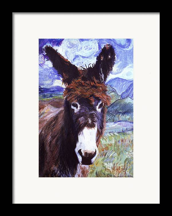 Pat Saunders-white Paintings Framed Print featuring the mixed media Carrot Top by Pat Saunders-White