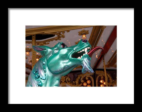 Carrousel Horse Canvas Prints Framed Print featuring the photograph Carrousel 38 by Joyce StJames