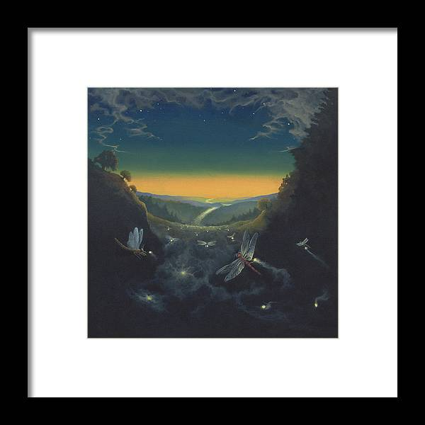 Dragonfly Framed Print featuring the print Carry The Light 1 by Boris Koodrin