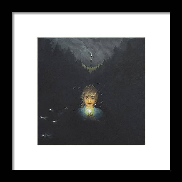 Girl Framed Print featuring the print Carry The Light 2 by Boris Koodrin