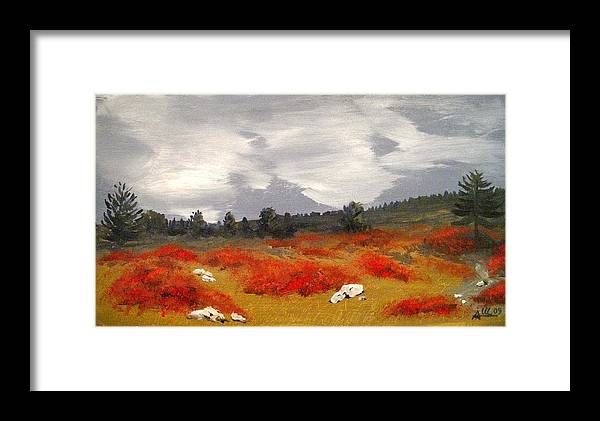 Carso Framed Print featuring the painting Carso by Anthony Meton