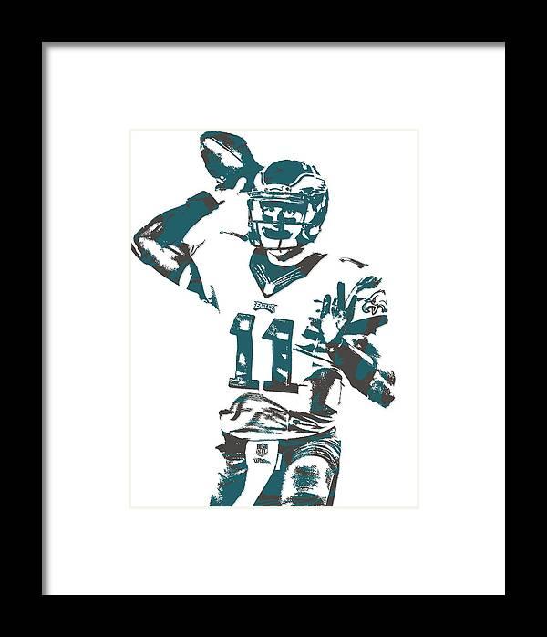 Carson Wentz Philadelphia Eagles Pixel Art 6 Framed Print by Joe ...