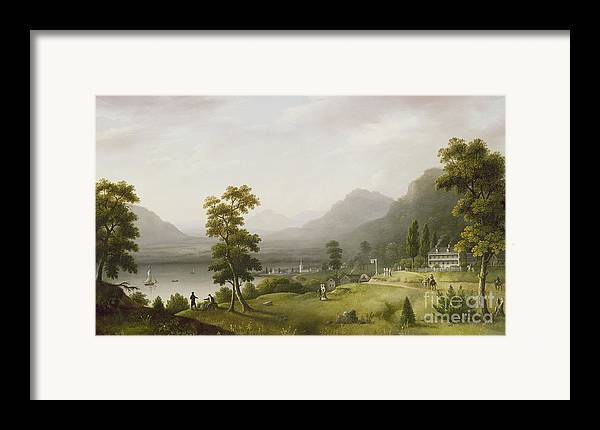 Carter Framed Print featuring the painting Carter's Tavern At The Head Of Lake George by Francis Guy