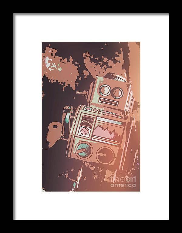Cartoon Cyborg Robot Framed Print by Jorgo Photography - Wall Art ...