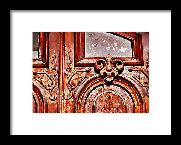 Nantucket Framed Print featuring the photograph Carved Entry by JAMART Photography