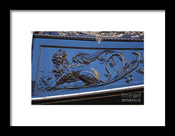 Venice Framed Print featuring the photograph Carving On Gondola In Venice by Michael Henderson
