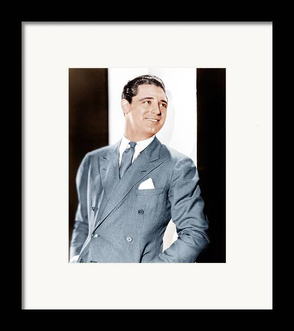 1930s Portraits Framed Print featuring the photograph Cary Grant, Ca. Early 1930s by Everett