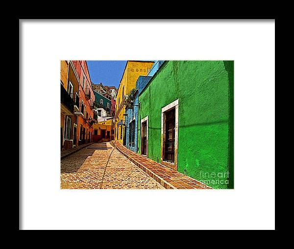 Darian Day Framed Print featuring the photograph Casa De Lima by Mexicolors Art Photography