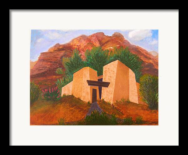 Landscape Framed Print featuring the painting Casa De Pax Y Bueno by Jack Hampton