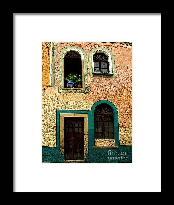 Darian Day Framed Print featuring the photograph Casa With Sea Green by Mexicolors Art Photography