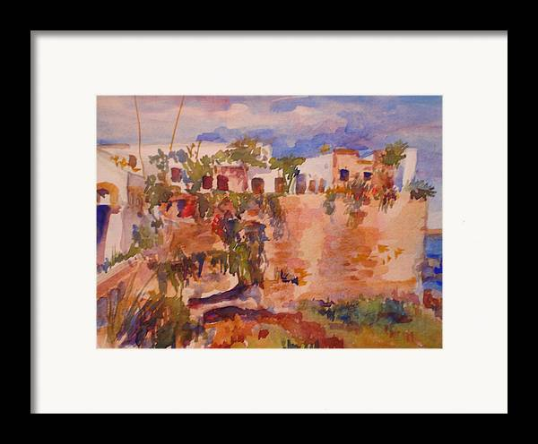 Landscape Framed Print featuring the painting Casablanca by Joyce Kanyuk
