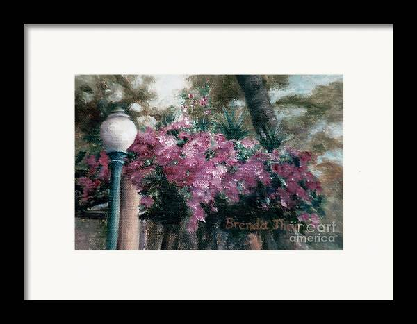Flowers Framed Print featuring the painting Cascading Flowers by Brenda Thour